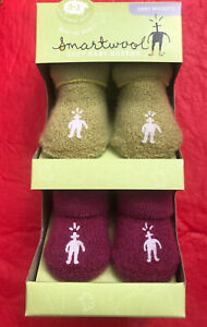 SMARTWOOL COZY BABY BOOTIES BABY WOOLY'S New infant 0-3 mos - FREE SHIPPING