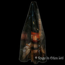WITCHING HOUR Lisa Parker Fantasy Black Cat Scarf / Flag / Wall Hanging 165x70cm