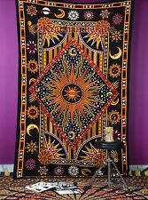 Celestial Burning Sun Hippie Tapestry Beach Picnic Sheets Throw Wall Hangings