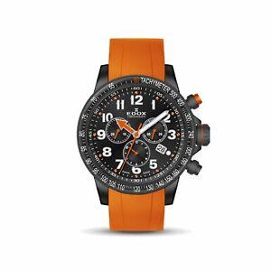 Edox 10229 37NOCA NOB Men's Chronorally S Black Quartz Watch