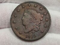 1829 Large Letter Type Large Cent - VF/XF - Corroded.  #9