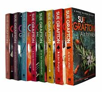 Sue Grafton A B C Murders 8 Books Alphabet Series Kinsey Millhone Alibi New