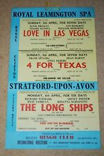 ELVIS PRESLEY SUPER-RARE ORIGINAL UK 1964 LOVE IN LAS VEGAS CINEMA BANNER POSTER