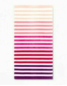 "Sun Squad Beach Towel Pink Ombre Stripe 32"" x 62"""