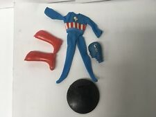 "Mego Mighty Marvel Marching Universe 8"" Captain America Action Figure Doll"