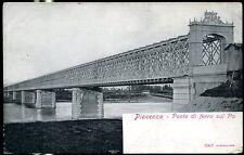 1905 - Piacenza - Ponte in ferro sul Po