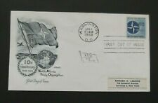US-1959-NATO 10th Anniv FDC-Washington