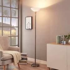 Stehleuchte Ignacia Deckenfluter Nickel satiniert Wohnzimmerlampe E27 Stehlampe