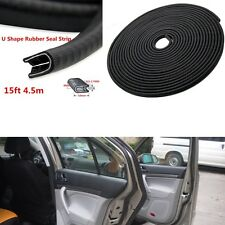 4.5M / 15Ft Door Rubber Weather Seal Edge Pinchweld Trim Steel Insert Waterproof