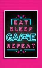 NEON Gaming Prints / Games Room Wall Art / Gamer Gifts / Gaming Poster / BEDROOM