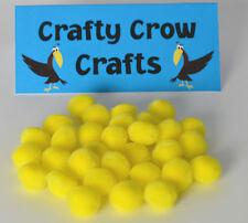 100 x Yellow 10mm POM POMS