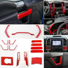 Interior Accessories Whole Kit Covers Trim ABS RED 17 pcs For Ford F150 2015-18