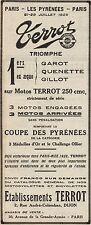 Y8055 Moto TERROT 250 cmc - Coupe des Pyrénées - Pubblicità d'epoca - 1928 Ad
