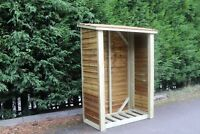 Log Store Solid Heavy Duty Log Store Garden Storage Tanalised Wood Store