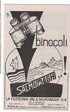 Pubblicità epoca 1938 BINOCOLI SALMOIRAGHI advertising werbung publicitè reklame