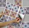 "Stick On Tile Transfer Stickers 4""x4"" Casablanca for Kitchen & Bathroom Tiles"