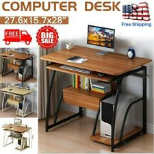 Wood Computer Desk Drawer Study Laptop PC Table Workstation Home Office Shelf US