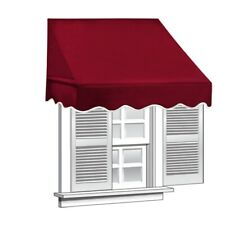 ALEKO Window Awning Door Canopy Decorator 6x2ft Sun Rain Shade Shelter Blurgundy