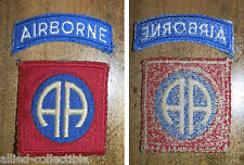 ORIGINAL RAR US insigne Patch 82nd Airborne Paratroopers Insignia Para 1000% WW2