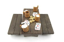 Playmobil~Medieval~Vintage~Knight~Table~Bench~Beer Mugs~Saloon~Cards~Gold Coins