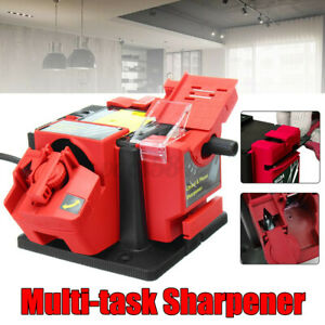 110V 65W Electric Grinder Multifunction Sharpener Grind Drill Tool US Plug
