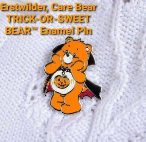 🦇🎃 Genuine ERSTWILDER Halloween TRICK-OR-SWEET CARE BEAR™Enamel Pin Brooch