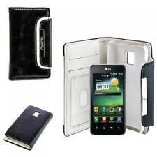 NUMIA Case Handy Tasche LG P990 Optimus Speed Schwarz Weiss Schutz Hülle Etui