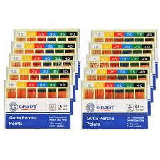10 X GAPADENT Brand Dental Gutta Percha Points Endodontics 15#-40# 120Pcs/Pack
