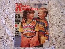 Strickheft, Handarbeitsheft: Burda Kindermaschen, Heft 1/90 Frühlingsmode