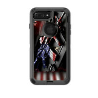 Skin Decal for Otterbox Defender iPhone 7 PLUS Case / AR Military Rifle America