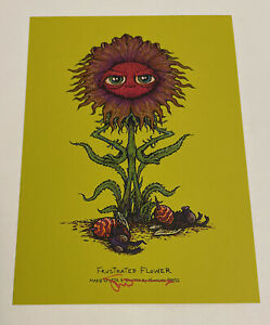 """Marq Spusta Frustrated Flower Absinthe Rubber Signed 5x7"""" Print UV!"""