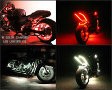 18 Color Change Led Tracer 900 Motorcycle 16pc Motorcycle Led Neon Light Kit