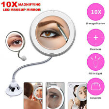 Specchio Trucco 10X Ingranditore Rotazione di 360° con aspirazione & lampada LED