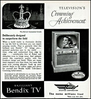 1952 Bendix tv sets Television's crown achievement vintage photo print ad ads53