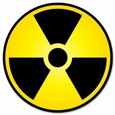 Nuclear Radiation Warning sign sticker decal 2""