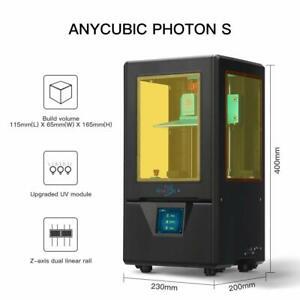 USED! ANYCUBIC LCD 3D Printer Photon S UV Matrix Dual Z-axis Linear Rail Resin