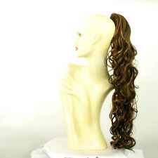 Hairpiece ponytail wavy long chocolate copper wick 65 cm 10 627c peruk