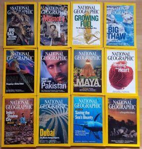 National Geographic 2007 english komplett Sammlung mit maps 1-12 Zeitschrift