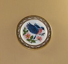 State Birds and Flowers Miniature Plate New York Eastern Bluebird Wild Rose
