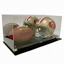 SAF-T-GARD Full Size NFL HELMET and FOOTBALL ACRYLIC DISPLAY CASE AD53