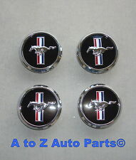 NEW 2005-2009 Ford Mustang Chrome PONY Wheel Center Caps, Set of 4, OEM Ford