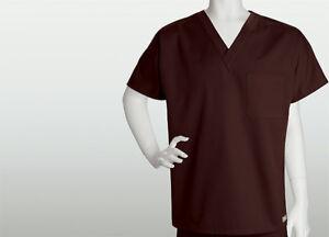 {2XL} ICU Medical Scrub Top V-neck Truffle/Dark Brown Style 7181X Unisex