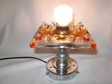 LAMPE DESIGN 1970 EN VERRE DE MURANO/PIED CHROME N°72
