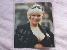 Emma Noble Hand Signed Photo black wonderbra and sunglasses (Noble-Major) 8 x 10