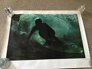 VINTAGE 1968 SURFERS SURF 23x30 POSTER JOHN SEVERSON ORIGINAL  HAWAII PIPELINE A