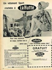 K- Publicité Advertising 1965 Les Vetements de Ski Sport La Hutte