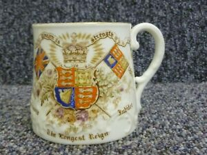 Queen Victoria Diamond Jubilee Aynsley Pottery Mug For Union and For Queen