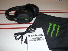 Rare, Skull Candy Monster Energy Crusher Amp Bass Driver Headphones - Free Ship!