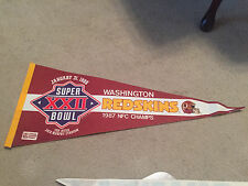 Vintage Pennant Flag Full Size 1987 Washington Redskins Super Bowl Nfc Champs