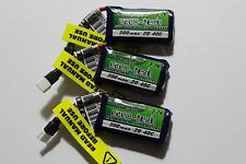 3 Turnigy Nano Tech 300Mah 3.7V 1S 20C-40C LiPo Battery SYMA X11 X11C S107 HUBSA